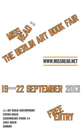 Miss Read 2013 poster by Laurence Weiner